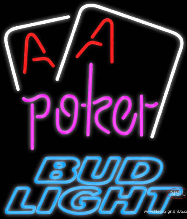 Bud Light Neon Aces White Cards Poker Real Neon Glass Tube Neon Sign,Affordable and durable,Made in USA,if you want to get it ,please click the visit button or go to my website,you can get everything neon from us. based in CA USA, free shipping and 1 year warranty , 24/7 service