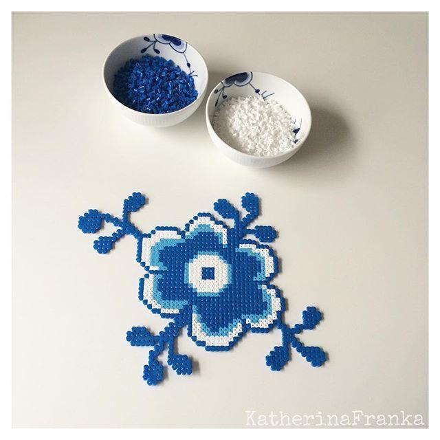 Royal Copenhagen design hama perler beads by katherinafranka