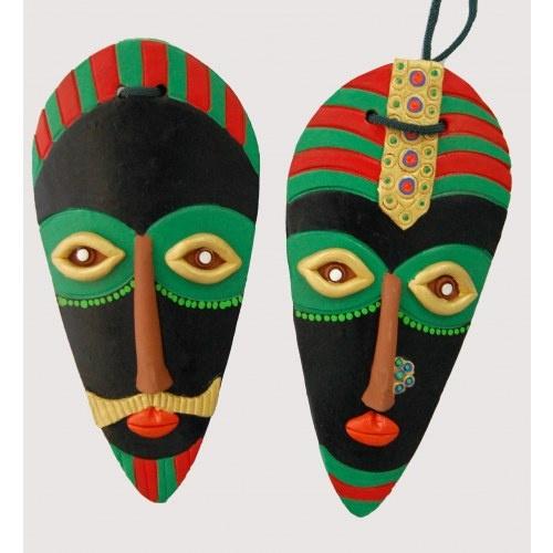 Wall Hanging Terracotta Mask Handicrafts Masks Art Abstract Face Art Cardboard Art