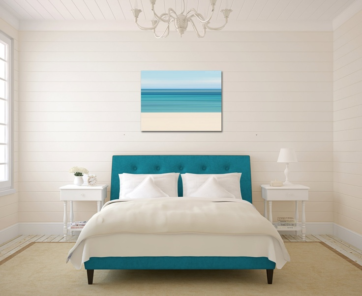 Canvas Wall Art Beach Photograph Abstract Ocean Photo ...