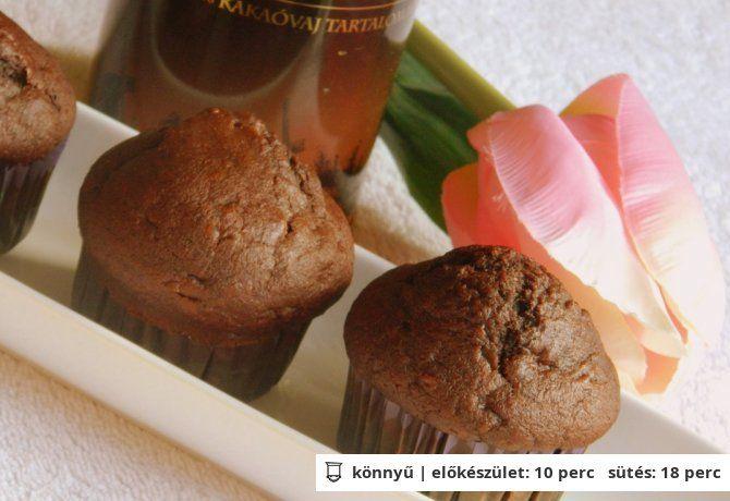 Csokoládés-banános muffin