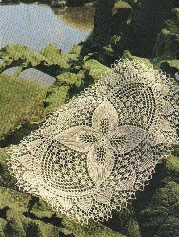 Kira knitting: Scheme knitted tablecloths 2