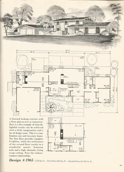 Vintage House Plans Mid Century Homes For The Home Pinterest