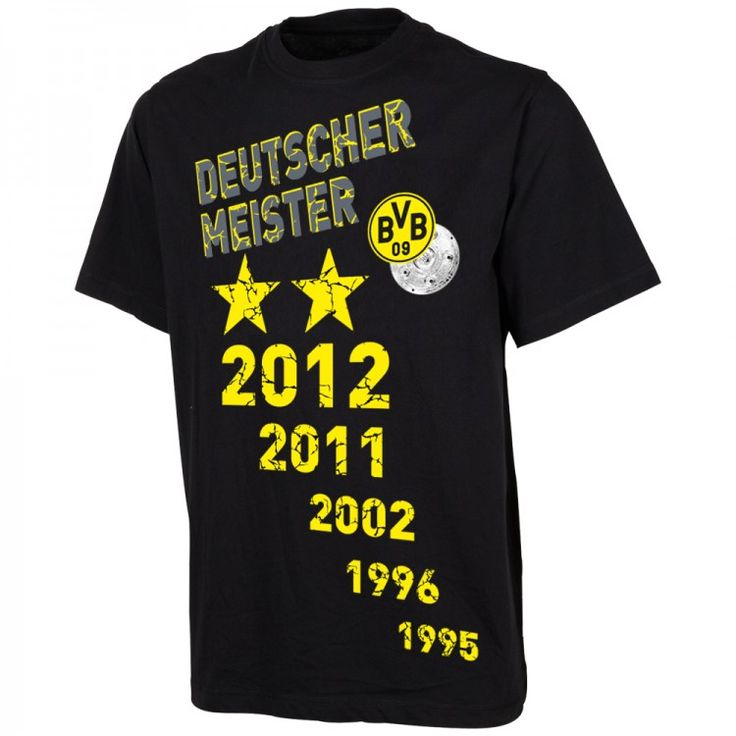 Meister Fanartikel mit dem BVB Meister 2012 T-Shirt. Der neue Fanartikel für alle Anhänger von Borussia Dortmund