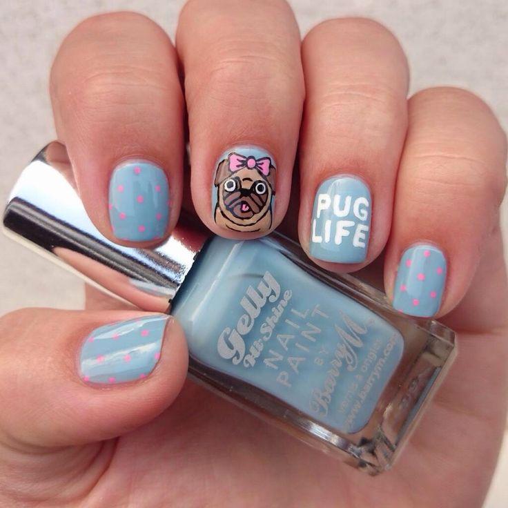 Dahlia Nails. Pug Life // thanks,@mirciamircia , you know me so well :-*
