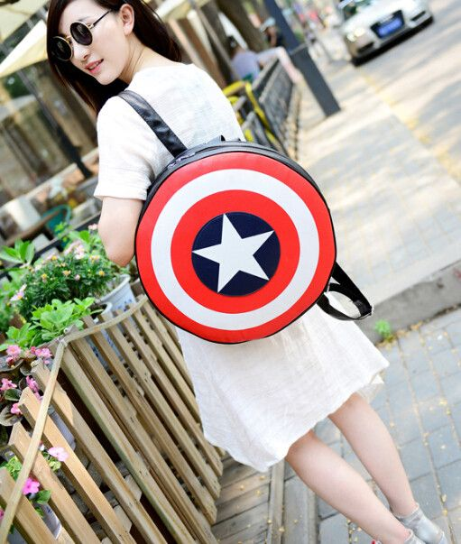 Captain America Shield Backpack. Free 3-7 days expedited shipping to U.S. Free first class word wide shipping. Customer service: help@moooh.net
