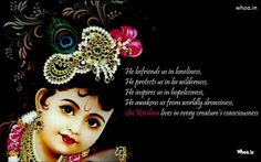 Sri Krishna Wallpapers With Quotes by Rustin Schinner III