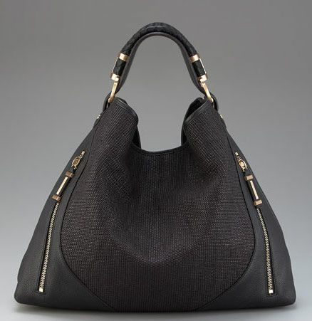 Rachel Zoe Collection Joni Raffia and Leather Hobo.  Nice black handbag.
