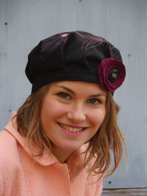 Fabulous, unique and totally chic!  This stunning little hat is from the latest délisa beret beret collection.  Unique and original, this beret hat is hand made in South of France using a the finest quality fabrics.  * Fully lined * Available to order in your choice of size (design may vary slightly) * Fully reversible with a cotton lining * Washable * Foldable * Fashionable * Detachable brooch  Take a soft tape measure and place it loosely around your head, where you would expect the hat to…