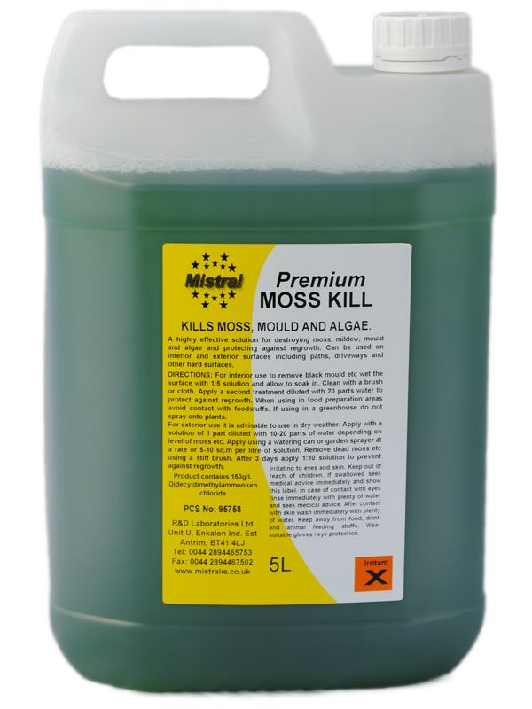 Moss Kill Concentrate Removes Moss And Algae On Roofs