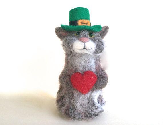 Irish gifts Irish Cat unique Irish gift Irish Cat by Felt4Soul