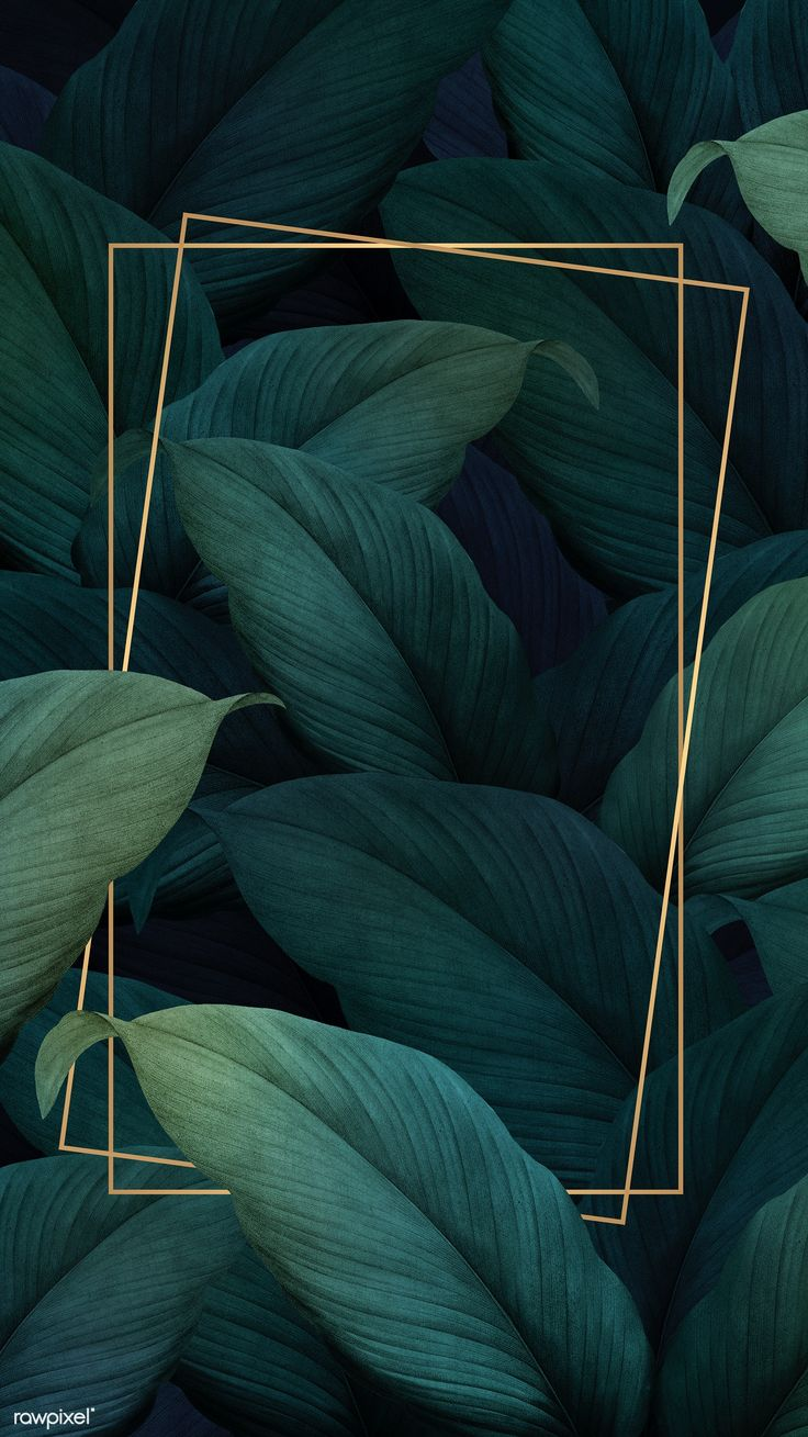 Download premium illustration of Green tropical leaves patterned poster