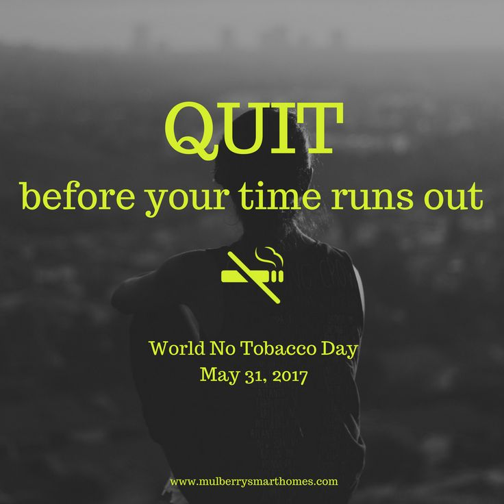 Quit before your time runs out. #NoTobacco  #worldnotobaccoday