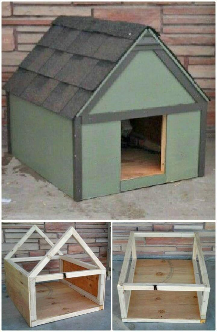 Give Your Pooch A Customized Home With Dog House Kits Diy Dog House Easy Dog House Diy Dog House Diy Outdoor Easy Dog House Dog House Plans