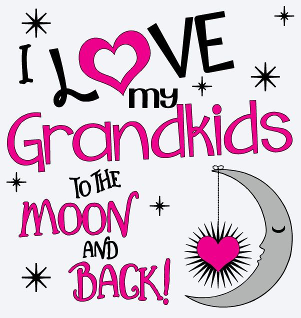Download I LOVE My GRANDKIDS To The Moon And Back VINYL Decal ...