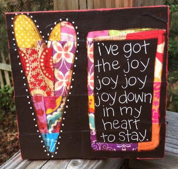 Joy Down In My Heart Craft Children Pinterest