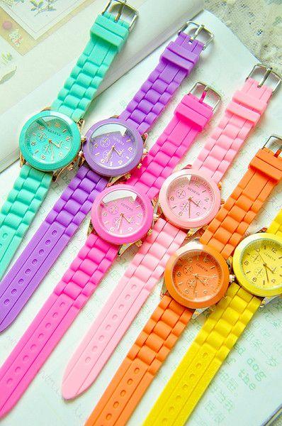 Reloj.. Colores hermosos!