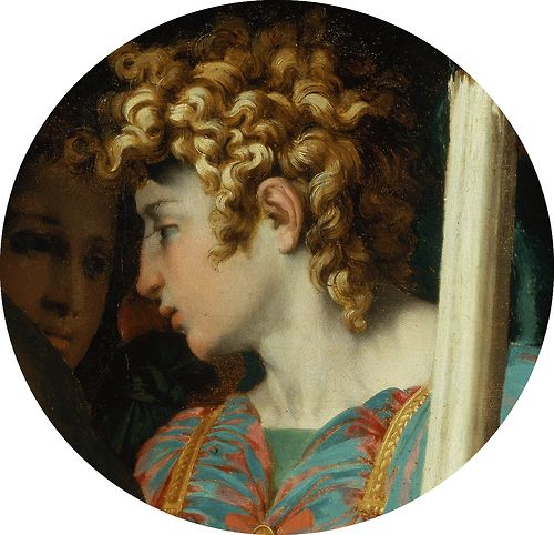 Curls from Death Christ with Angels (Details)Rosso Fiorentino 1525