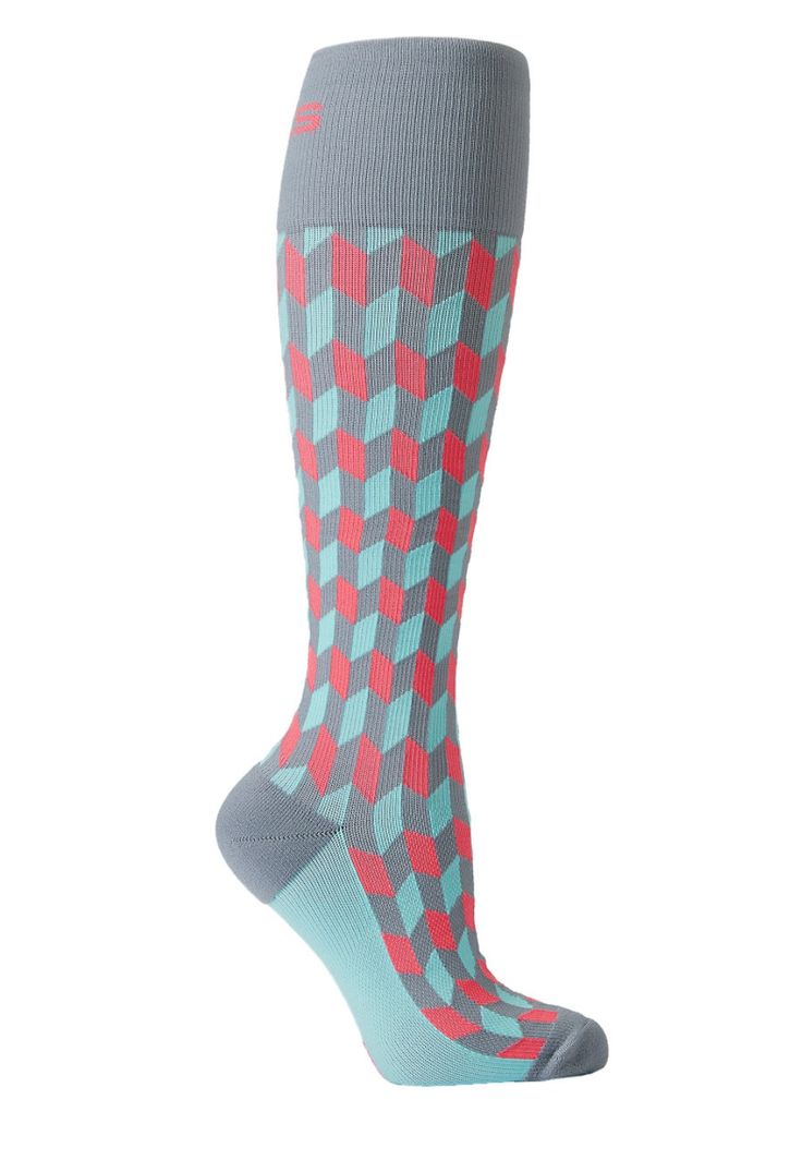 About The Nurse Coral Chevron Compression Socks - Coral Chevron - 2X: Do your legs a favor… #NursingScrubs #MedicalScrubs #DiscountScrubs
