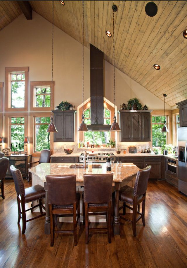 Open Floor Plan Love The Vaulted Ceiling Pole Barn