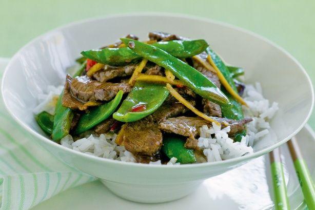 Chinese Beef And Snow Pea Stir-fry Recipe - Taste.com.au