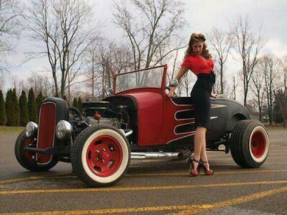 989 Best Images About Black N Red Rods N Pinups On