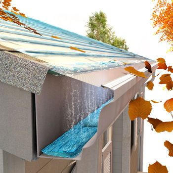 What a great idea to keep debris from filling up in your gutters!