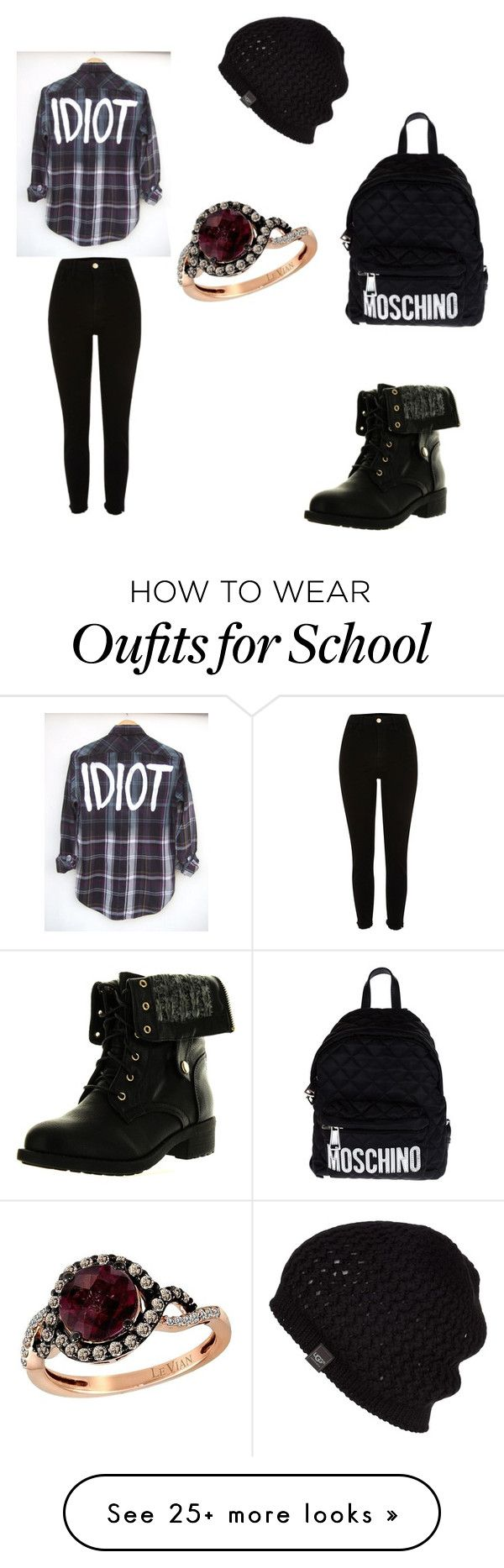 """School things 4"" by starrjames on Polyvore featuring Refresh, UGG Australia, Moschino and LE VIAN"