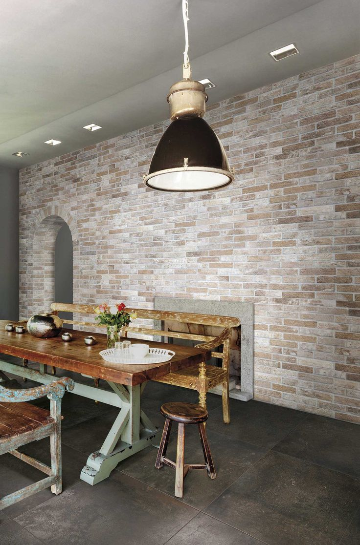 These brick slips by Original Style feel and look exactly like traditional bricks and can be used on both walls and floors. Use Antico Casale Mattone, Rosato or Fumo to underline that rustic look everyone is after. Also available in black and white (Nero, Bianco)