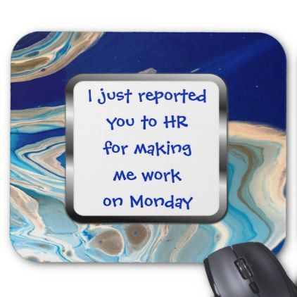 Human Resources HR Funny Mousepad Office Humor - individual customized designs custom gift ideas diy