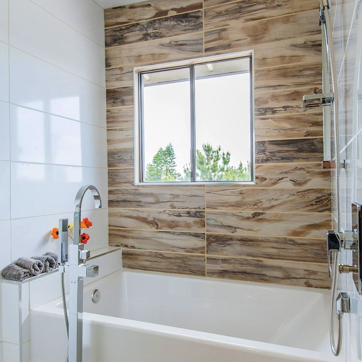 Bathroom Tile Looks Like Wood: Achieve A Petrified Wood Look In A Shower Area By