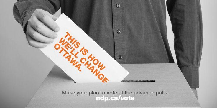 Change — it's just one vote away. #Ready4Change #elxn42