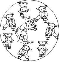 Maerchen Rotkäppchen und der Wolf | zu den Märchenmandalas