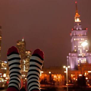 KABAK socks & Pałac Kultury, Warsaw Poland