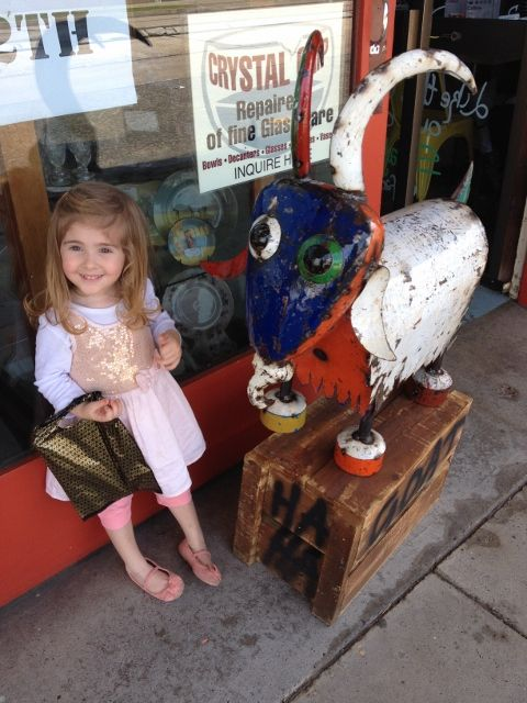 The Laughing Goat Cafe - a great place for lunch and a spot of antique shopping.