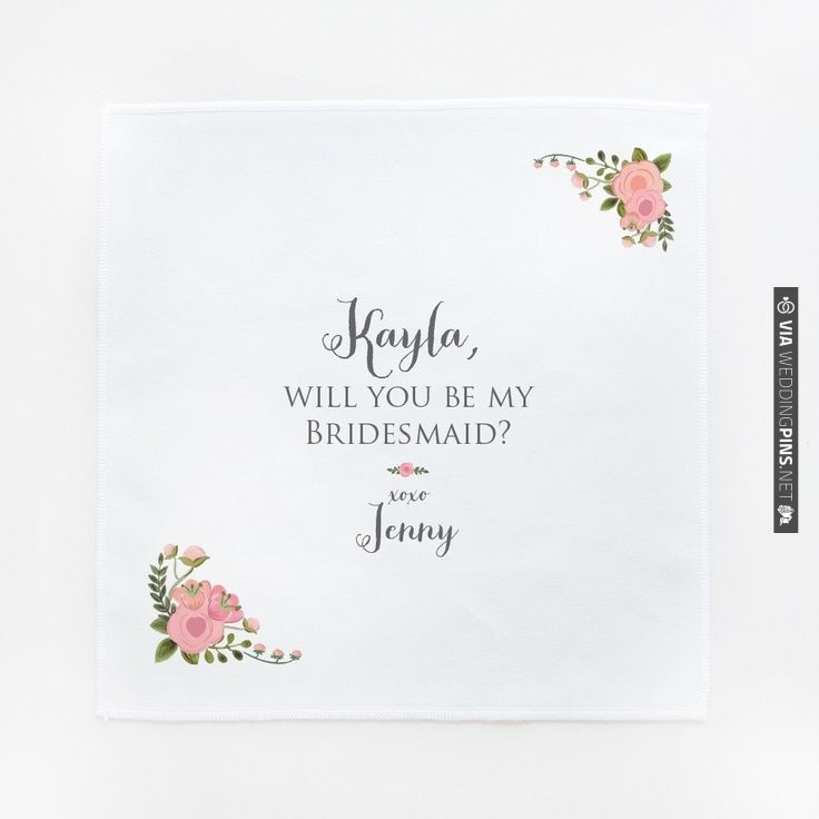 Catherine Will You Be My Hanky on sale for $10.00 | CHECK OUT MORE IDEAS AT WEDDINGPINS.NET | #weddings #weddinggear #weddingshopping #shopping