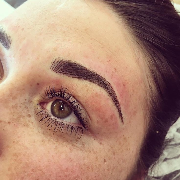 #microblading 3D eyebrows permanent makeup