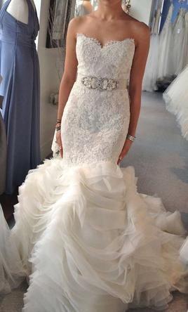 Lazaro 3201 5 000 size 16 new un altered wedding for Wedding dresses under 5000