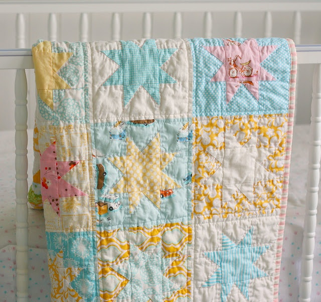 Star quiltStars Quilt, Soft Colors, Wonky Stars, Hands Quilt, Baby Girls, Blue Elephant, Elephant Stitches, Baby Gift, Baby Quilt