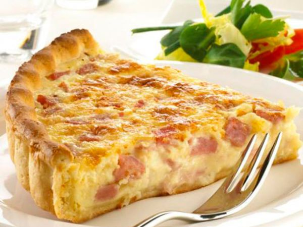 Quiche Loraine de bacon y jamón york