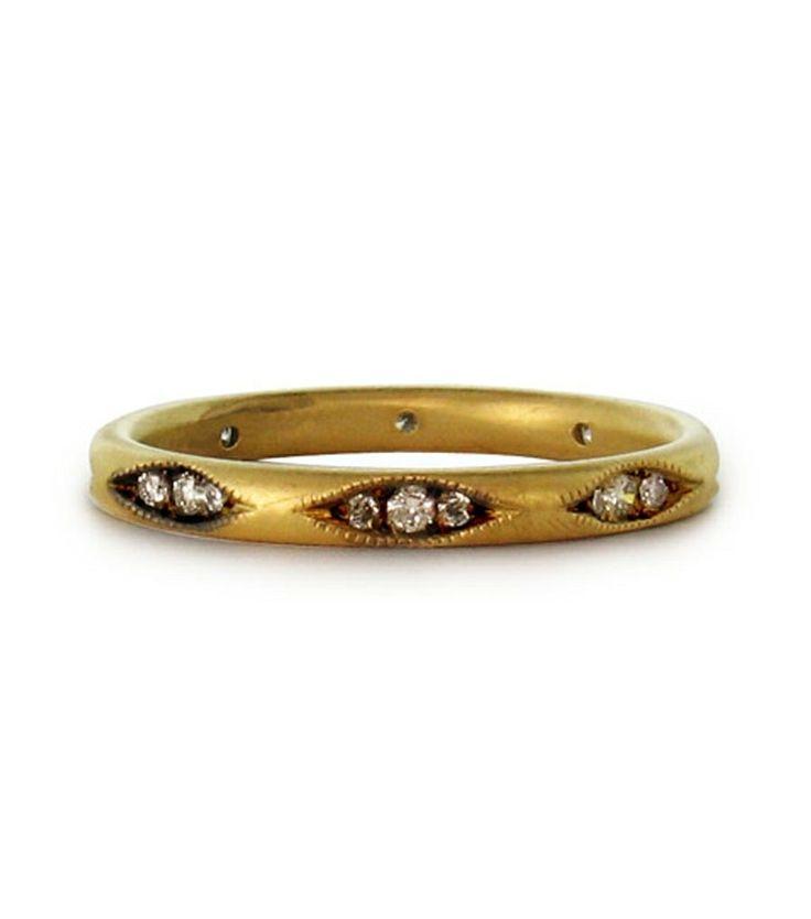 Clara Band by Ila & I // https://catbirdnyc.com/shop/product.php?productid=18595Ila, Wedding Ring, Clara Band, Wedding Bands, Jewelry, Jewels, Gold, Clara Rings, Engagement Rings