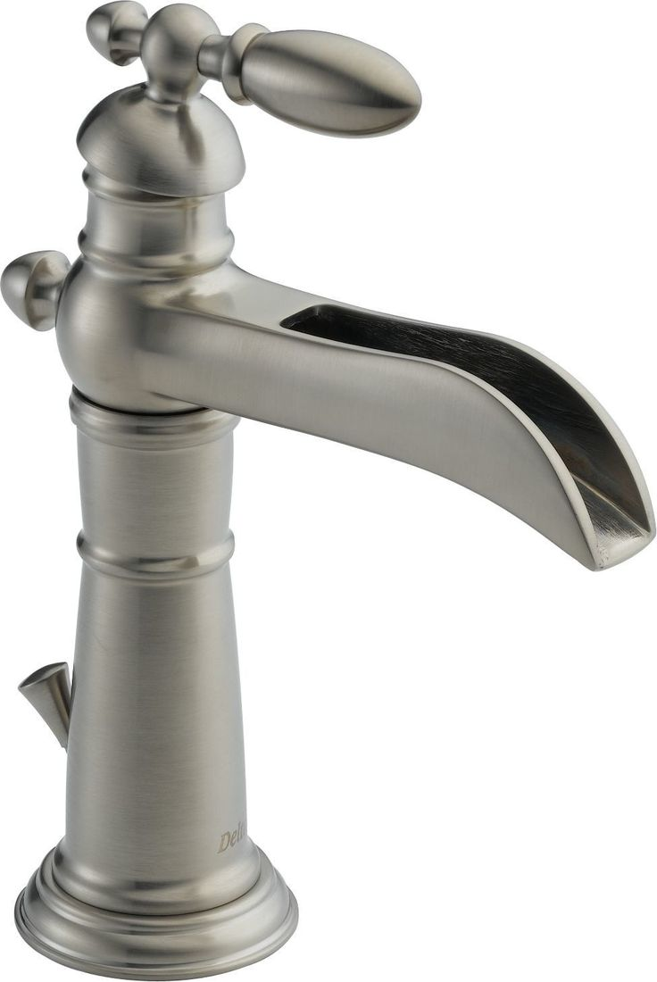 Vanity For Small Bathroom Single Hole Faucet: Victorian Single Hole Bathroom Channel Spout Faucet With