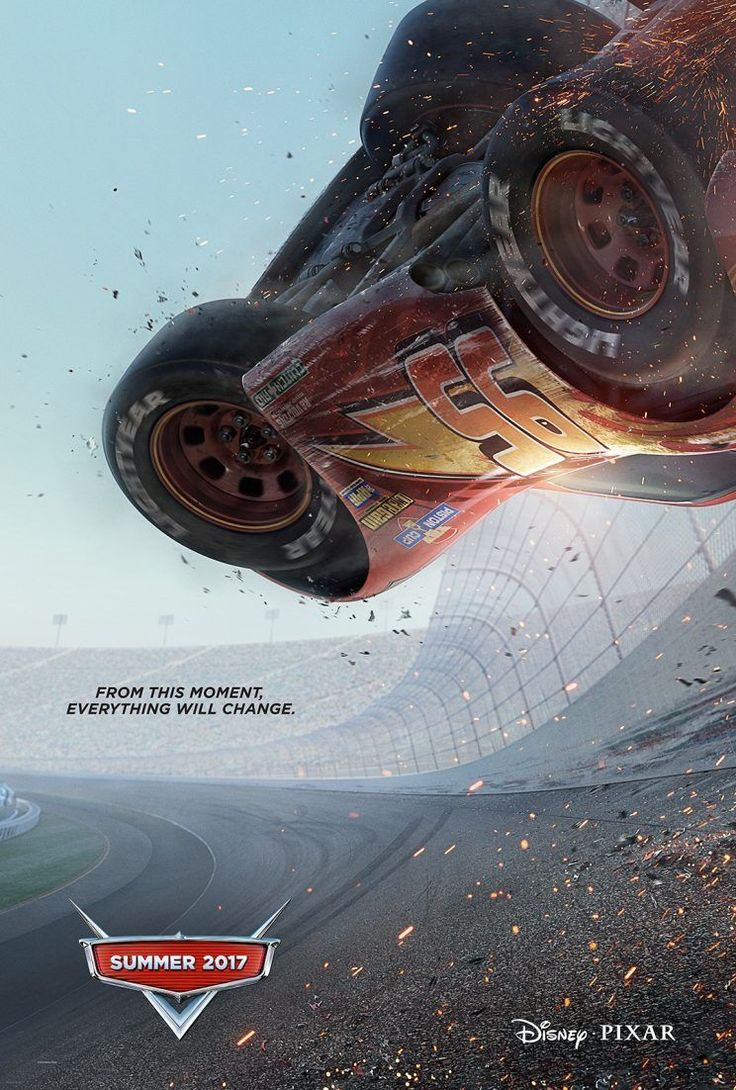 cars 3 poster lightning mcqueen enters the upside down exclusive