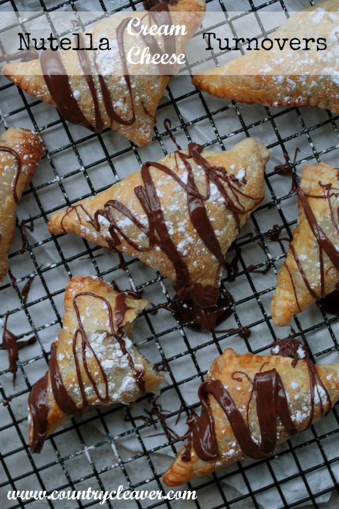 Nutella Cream Cheese Turnovers - www.countrycleaver.com