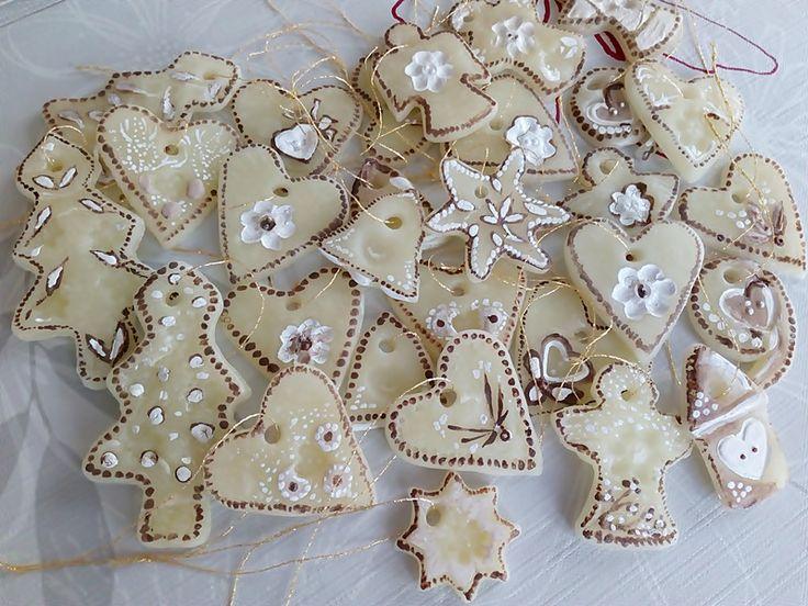 Ozdoby na choinkę z suchej porcelany. Boże Narodzenie | Szysia