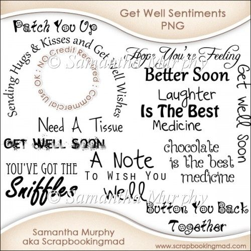 words for a get well card