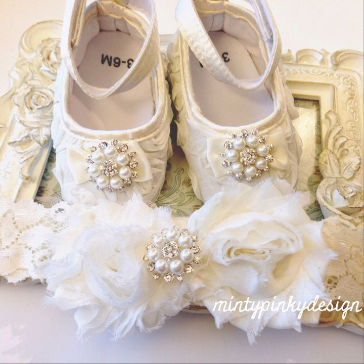 A personal favorite from my Etsy shop https://www.etsy.com/ca/listing/186493634/ivory-off-white-baby-shoes-baby-shoes