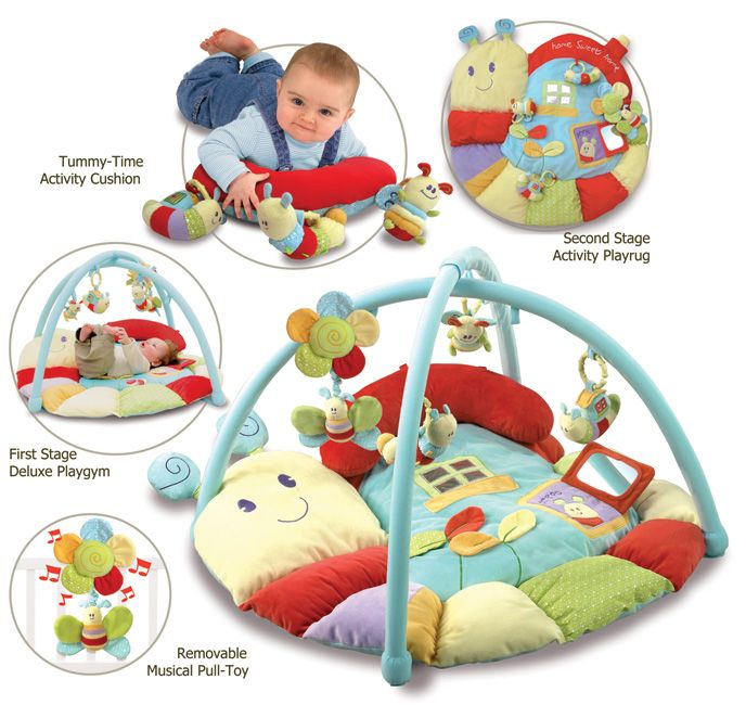 Play gym (available at Piglet & Me) super accessories included with this mat for babies 0m+