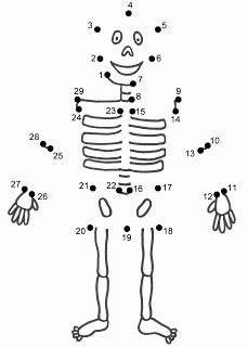 Skeleton dot to dot print out sheet