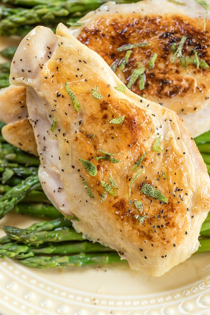 Sous Vide Chicken and Asparagus